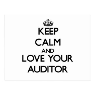 Keep Calm and Love your Auditor Postcards
