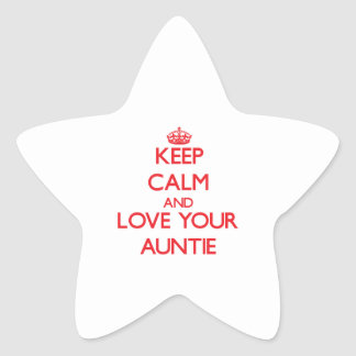Keep Calm and Love your Auntie Star Sticker
