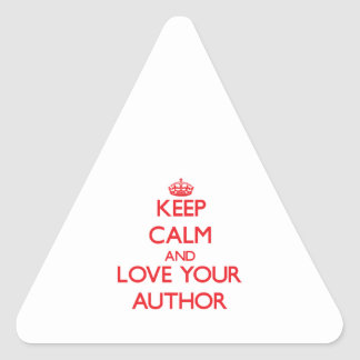 Keep Calm and Love your Author Stickers