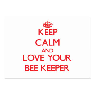 Keep Calm and Love your Bee Keeper Business Card Templates