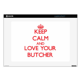 Keep Calm and Love your Butcher Laptop Decals