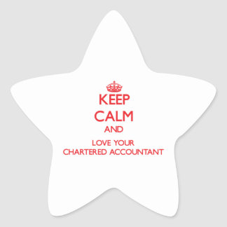 Keep Calm and Love your Chartered Accountant Star Sticker