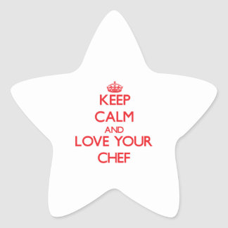 Keep Calm and Love your Chef Sticker