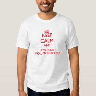 Keep Calm and Love your Clinical Microbiologist Tee Shirt