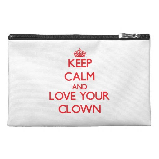 Keep Calm and Love your Clown Travel Accessories Bags