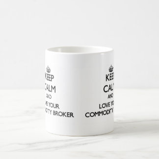 Keep Calm and Love your Commodity Broker Classic White Coffee Mug