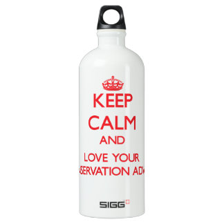 Keep Calm and Love your Conservation Adviser SIGG Traveler 1.0L Water Bottle