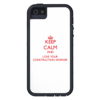 Keep Calm and Love your Construction Worker Cover For iPhone 5