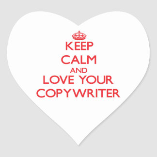 Keep Calm and Love your Copywriter Heart Stickers