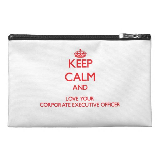 Keep Calm and Love your Corporate Executive Office Travel Accessory Bag