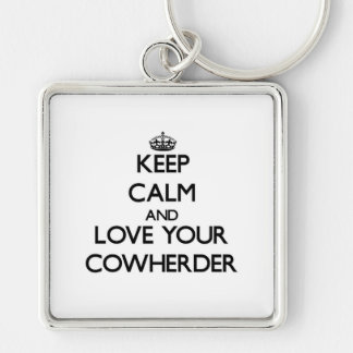 Keep Calm and Love your Cowherder Key Chains