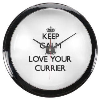 Keep Calm and Love your Currier Aqua Clock