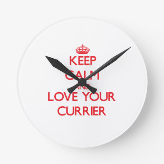 Keep Calm and Love your Currier Round Clocks