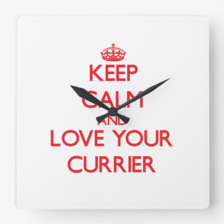 Keep Calm and Love your Currier Square Wallclocks