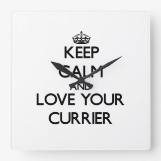 Keep Calm and Love your Currier Wall Clock