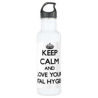 Keep Calm and Love your Dental Hygienist 24oz Water Bottle