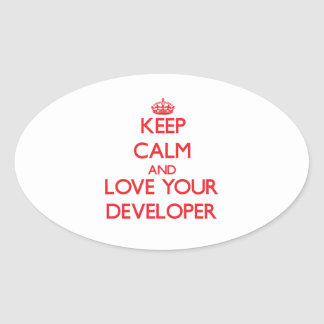 Keep Calm and Love your Developer Sticker