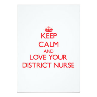 Keep Calm and Love your District Nurse Invite