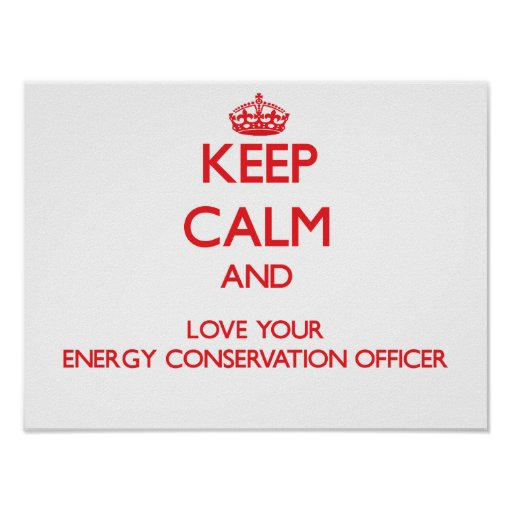 Keep Calm and Love your Energy Conservation Office Poster