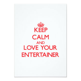 Keep Calm and Love your Entertainer Personalized Announcements