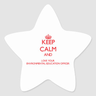 Keep Calm and Love your Environmental Education Of Star Stickers
