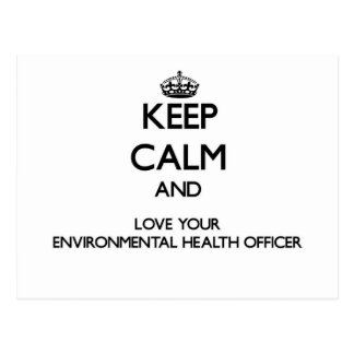 Keep Calm and Love your Environmental Health Offic Post Card