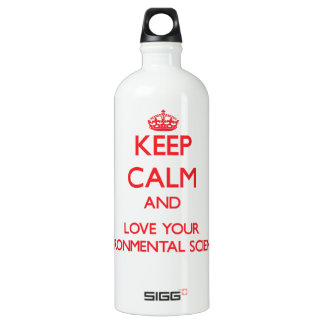 Keep Calm and Love your Environmental Scientist SIGG Traveler 1.0L Water Bottle
