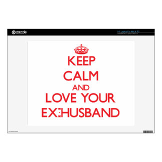 """Keep Calm and Love your Ex-Husband 14"""" Laptop Decals"""