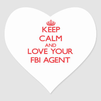 Keep Calm and Love your Fbi Agent Heart Stickers