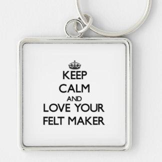 Keep Calm and Love your Felt Maker Keychains