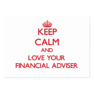 Keep Calm and Love your Financial Adviser Business Card Templates