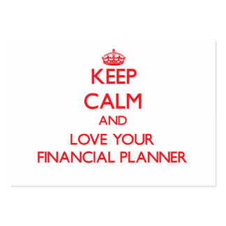 Keep Calm and Love your Financial Planner Business Card Templates