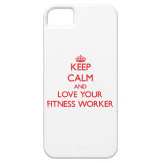 Keep Calm and Love your Fitness Worker iPhone 5 Covers
