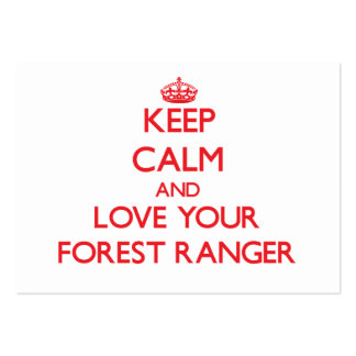 Keep Calm and Love your Forest Ranger Large Business Cards (Pack Of 100)