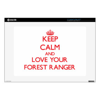 """Keep Calm and Love your Forest Ranger 15"""" Laptop Decals"""