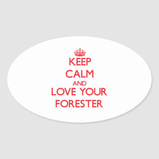 Keep Calm and Love your Forester Sticker