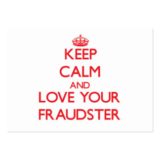 Keep Calm and Love your Fraudster Business Card Template