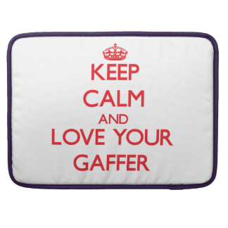 Keep Calm and Love your Gaffer MacBook Pro Sleeve