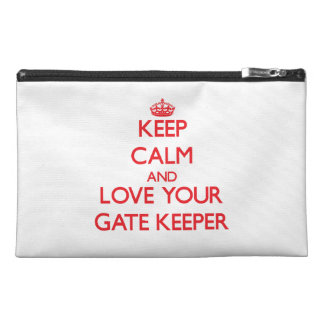 Keep Calm and Love your Gate Keeper Travel Accessory Bag