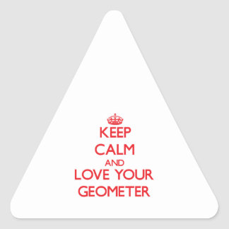 Keep Calm and Love your Geometer Triangle Sticker