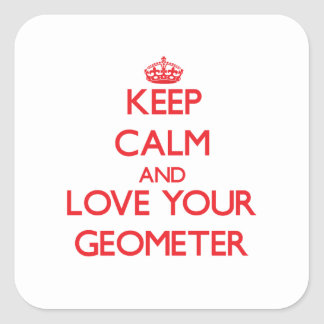 Keep Calm and Love your Geometer Stickers