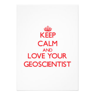 Keep Calm and Love your Geoscientist Cards