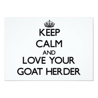 Keep Calm and Love your Goat Herder Personalized Invite