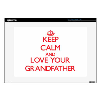 "Keep Calm and Love your Grandfather 15"" Laptop Decal"