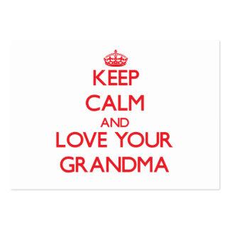 Keep Calm and Love your Grandma Business Card Templates