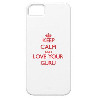Keep Calm and Love your Guru iPhone 5 Case