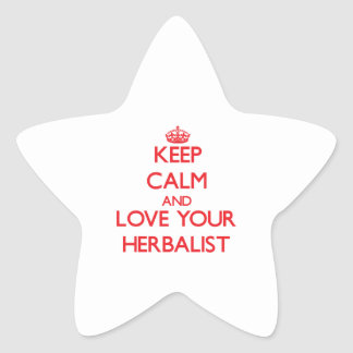 Keep Calm and Love your Herbalist Star Stickers