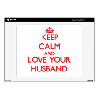 """Keep Calm and Love your Husband 14"""" Laptop Decal"""