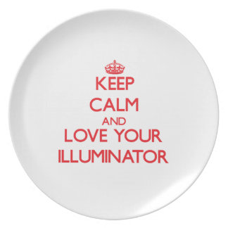 Keep Calm and Love your Illuminator Party Plate