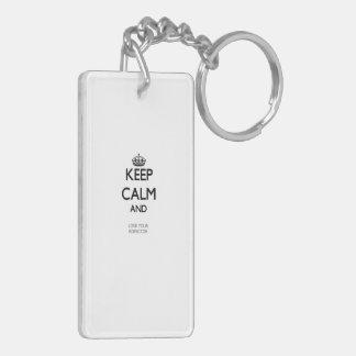 Keep Calm and Love your Inspector Double-Sided Rectangular Acrylic Keychain